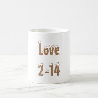 バレンタインデークラシックな愛マグ2-14 CaféのAu Lait コーヒーマグカップ