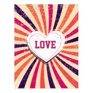 バレンタインデーハートの多彩な愛デザイン ポストカード