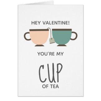 バレンタインデー愛あなたは私のお茶 カード