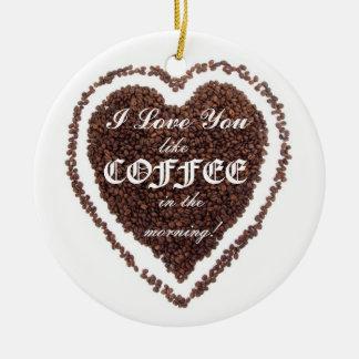 バレンタインデー愛コーヒーオーナメントを好みます セラミックオーナメント