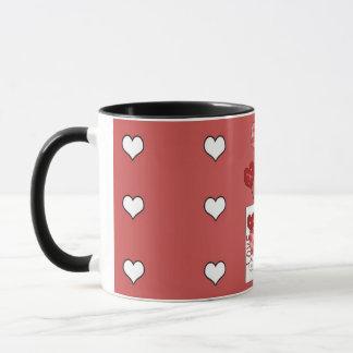バレンタインデー愛ハートのコーヒーカップ マグカップ