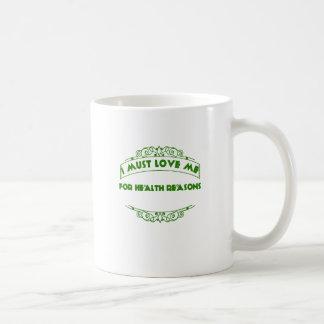 バレンタインデー私は健康のTシャツのための私を愛さなければなりません コーヒーマグカップ