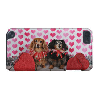 バレンタインデー-ブルックリン及びマンディ-ダックスフント iPod TOUCH 5G ケース