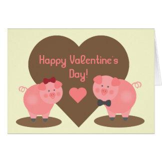 バレンタインデー-泥のブタ カード