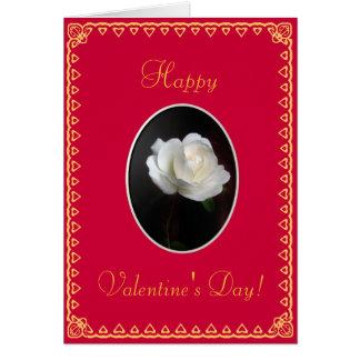 バレンタインデー: 組み立てられる上がりました カード
