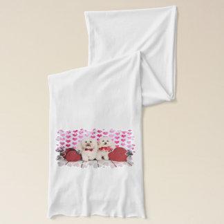 バレンタインデー- Kirby及びShelby -プードル スカーフ