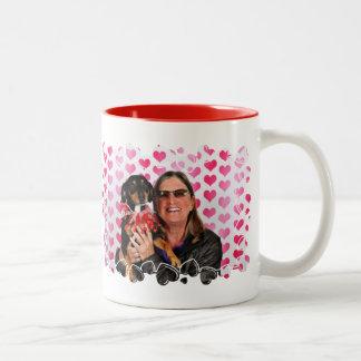 バレンタインデー- Sadie -ダックスフント ツートーンマグカップ