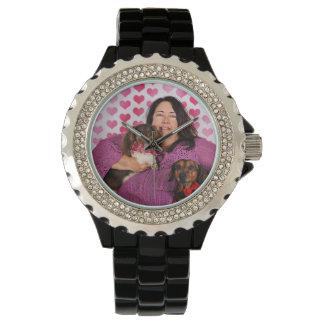 バレンタインデー- Skippy及びZelda -ダックスフント 腕時計