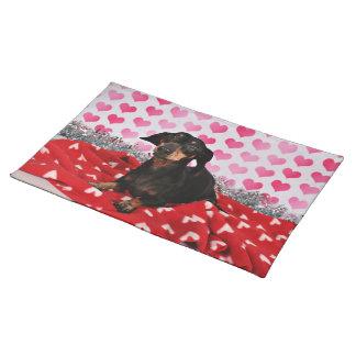 バレンタインデー- Sophia -ダックスフント ランチョンマット