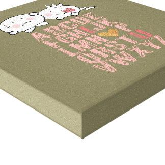 バレンタインデーAからZのキャンバス キャンバスプリント