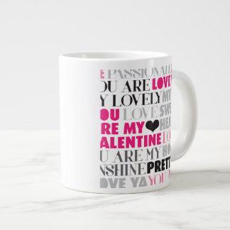 バレンタイン愛メッセージのマグ ジャンボマグ