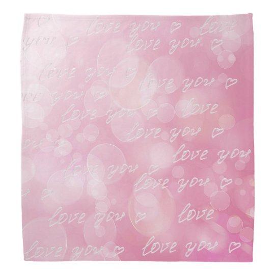 バレンタイン愛《写真》ぼけ味の抽象芸術のピンクの質 バンダナ