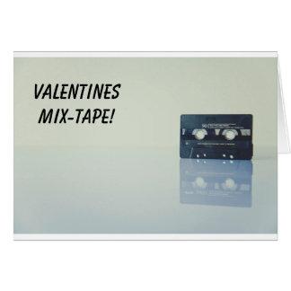 バレンタイン等のためのMixtapeの組合せのタップカード カード