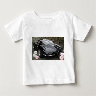 バレンタイン黒いコルベット ベビーTシャツ
