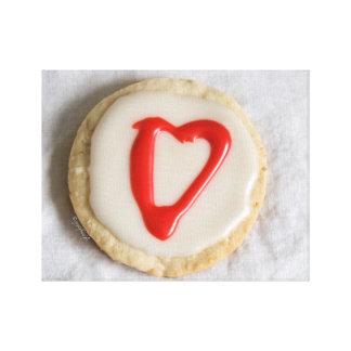 """""""バレンタイン""""の切り出しのクッキーのjjhélèneのファインアートのキャンバス キャンバスプリント"""