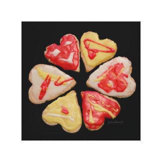 """""""バレンタイン""""の切り出しのクッキーのjjhélèneのファインアート キャンバスプリント"""
