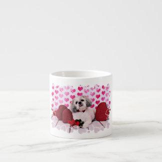 バレンタイン-シーズー(犬) Tzu -テディ エスプレッソカップ