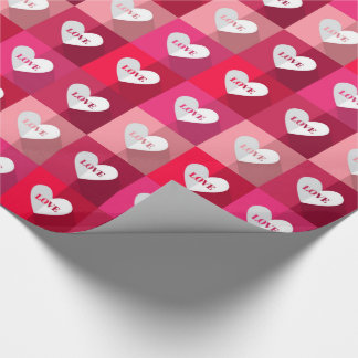 バレンタイン-愛ブロック ラッピングペーパー