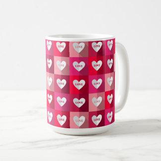 バレンタイン-愛マグのブロック コーヒーマグカップ
