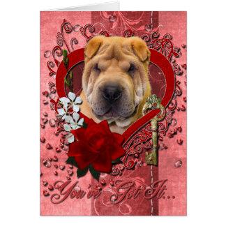 バレンタイン-私のハートへの鍵- Shar Pei カード