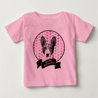 バレンタイン- Basenjiのシルエット ベビーTシャツ