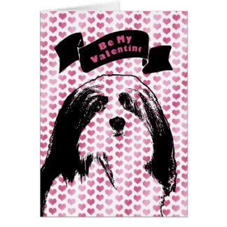 バレンタイン- Havaneseのシルエット カード