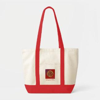 バレーボールのお母さんの幾何学的なバッグ トートバッグ
