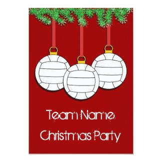 バレーボールのためのクリスマスの招待状 カード