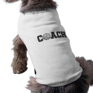 バレーボールのコーチの小犬の骨があるタンクトップ ペット服