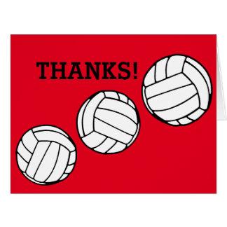 バレーボールのコーチは感謝していしています カード