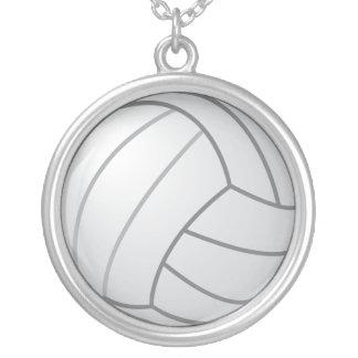 バレーボールのネックレス シルバープレートネックレス