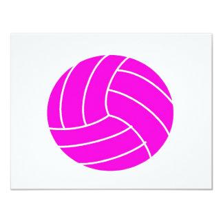 バレーボールのピンク カード