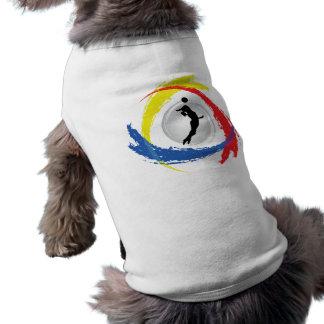 バレーボールの三色の紋章(女性) ペット服