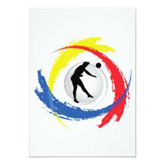 バレーボールの三色の紋章(男性) カード