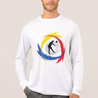 バレーボールの三色の紋章(男性) Tシャツ