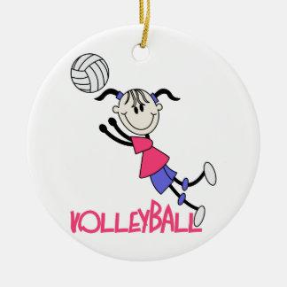 バレーボールの女の子 セラミックオーナメント