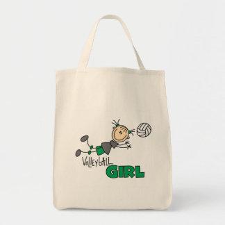 バレーボールの女の子 トートバッグ