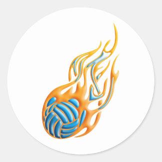 バレーボールの火球 ラウンドシール