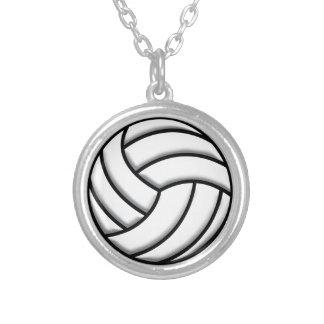 バレーボールの球 シルバープレートネックレス