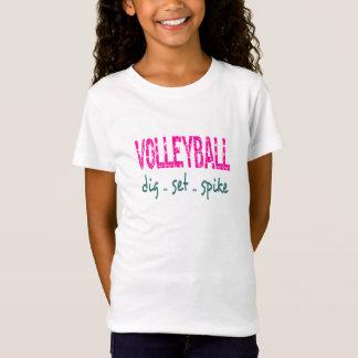 バレーボールの発掘の一定のスパイクのユニセックスな子供のティー Tシャツ