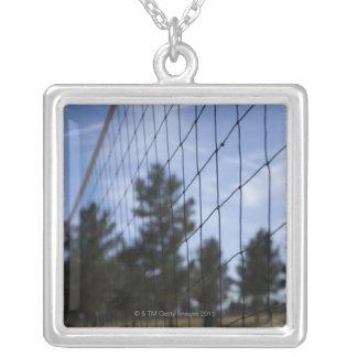 バレーボールの網 シルバープレートネックレス
