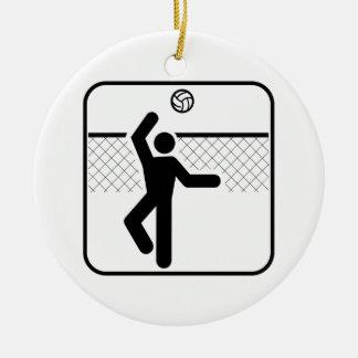 バレーボールの記号のオーナメント セラミックオーナメント