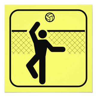 バレーボールの記号の招待状 カード