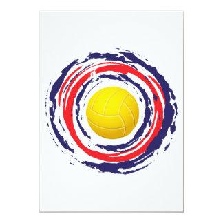 バレーボールの赤い青および白2 カード
