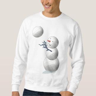 バレーボールの雪だるまのクリスマス スウェットシャツ