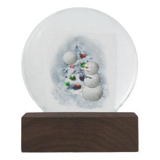 バレーボールの雪だるまのクリスマス スノーグローブ