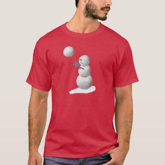 バレーボールの雪だるま Tシャツ