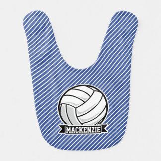 バレーボールの、青及び白のストライプ、スポーツ ベビービブ