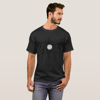 バレーボールのTシャツ-壁のひび Tシャツ