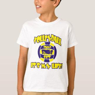 バレーボールは王室のな私の生命および金ゴールドです Tシャツ